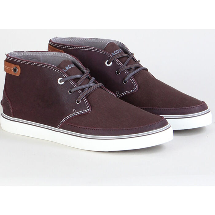 Lacoste Clavel AP 6 SRM Sneaker Turnschuhe Schuhe Leder dark purple NEU Herren