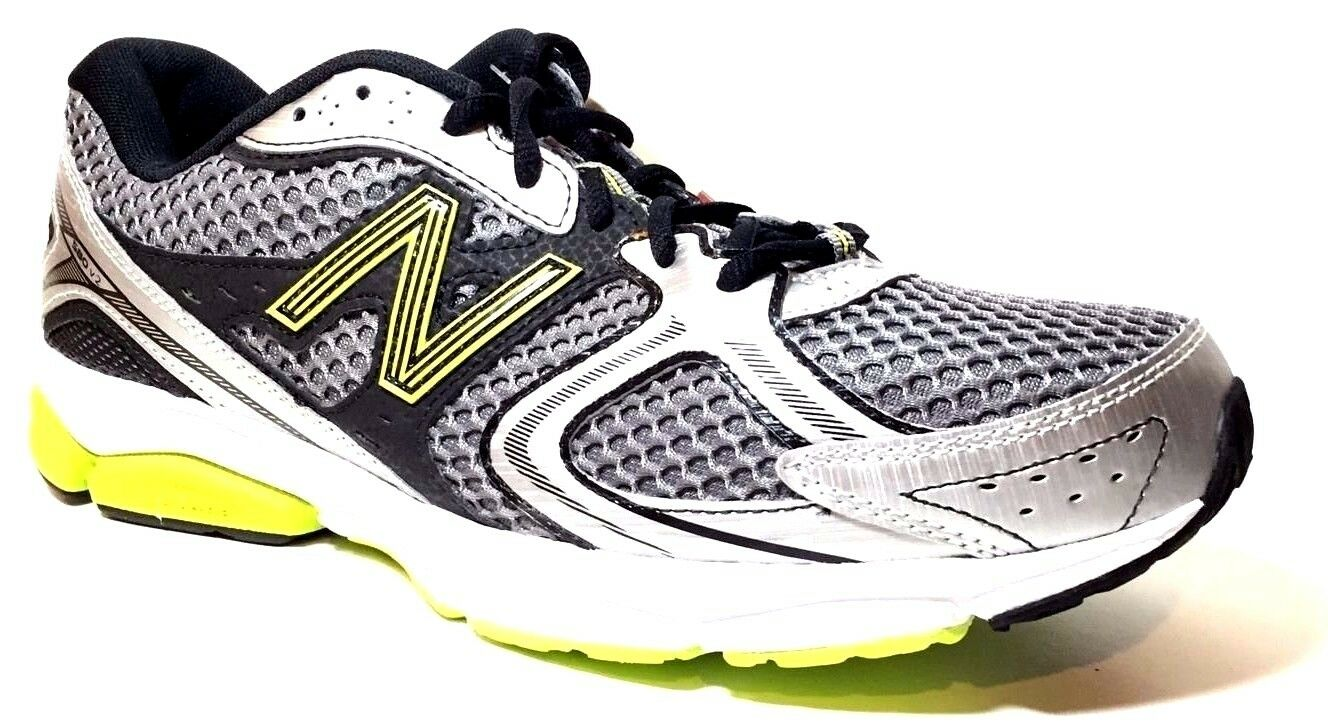 New Balance Men's M580 Running shoes,Silver Lime,10.5 D US