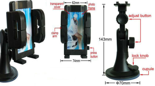 IN CAR MOBILE PHONE SAT NAV GPS HOLDER WITH LOCKING SUCTION MOUNT CELL CARRIER