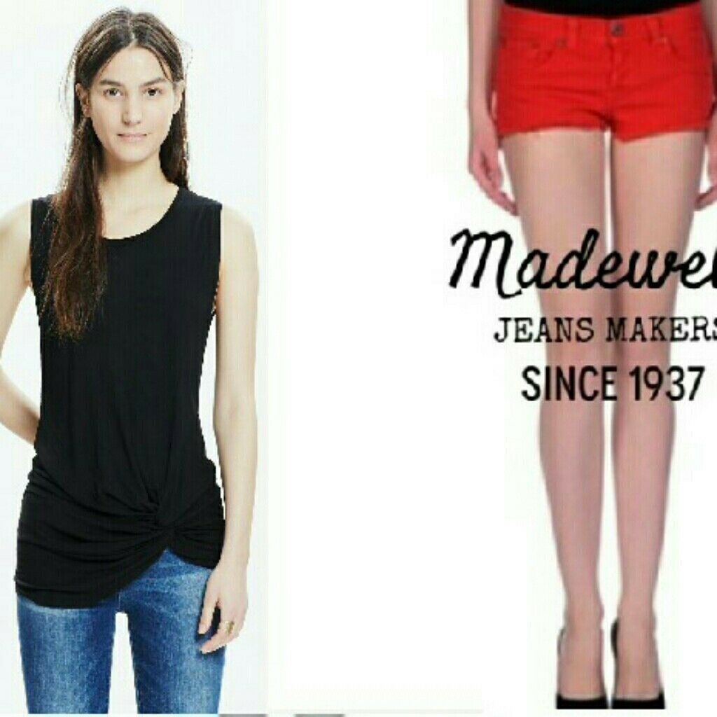 Bundle MADEWELL Twist Top and Jean Short XS 27