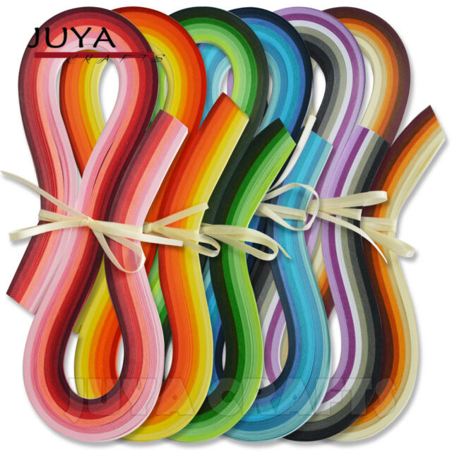 7 Green Colors,Width 10mm Juya Paper Quilling Set 54cm Length Up to 42 Shade Colors 6 Pack
