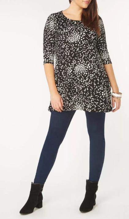 Foggi Femmes Shirt Chemise Longue damentop T-Shirt Print Haut Chemisier shirt XS-M