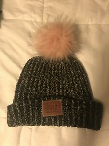 Image is loading LOVE-YOUR-MELON-Rare-Pink-Pom-Beanie-Black- 45da0dea666