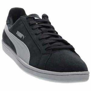 Puma-Smash-Suede-Leather-Casual-Sneakers-Blue-Mens