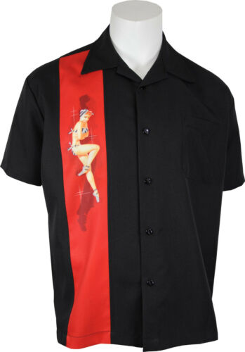 Vintage Shirts – Mens – Retro Shirts    Steady - Bikini Pinup Rockabilly Bowling Panel Shirt. All Sizes. Free Shipping   $46.95 AT vintagedancer.com