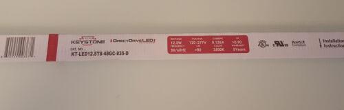 DirectDrive Tube 12.5W Direct Wire Shatter Proof 25PK Keystone T8 LED Bulbs 4ft