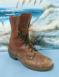 Rhino-Mens-Boots-Size-10-Brown-Leather-STYLE-88C32-Lace-Up