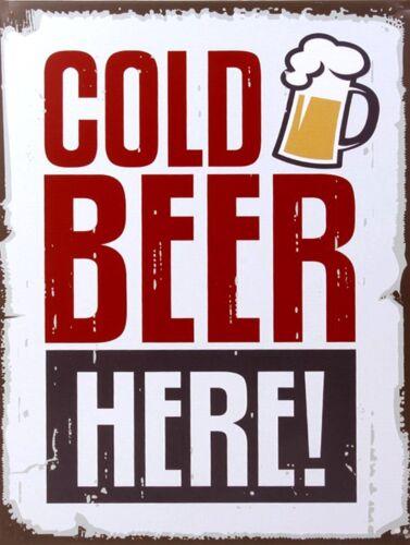 cuisine Bière froide ici Rétro Métal Signe bar//PUB cadeau de nouveauté