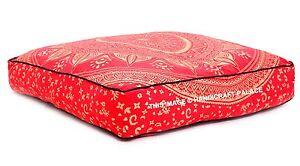 Mandala-Indien-Coussin-Housse-Carre-Decorative-Grand-Sol-Oreiller-Ombre-Coussin