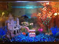 Large Castle Aquarium Ornament Fish Tank Decoration Hand Painted Coral Decor
