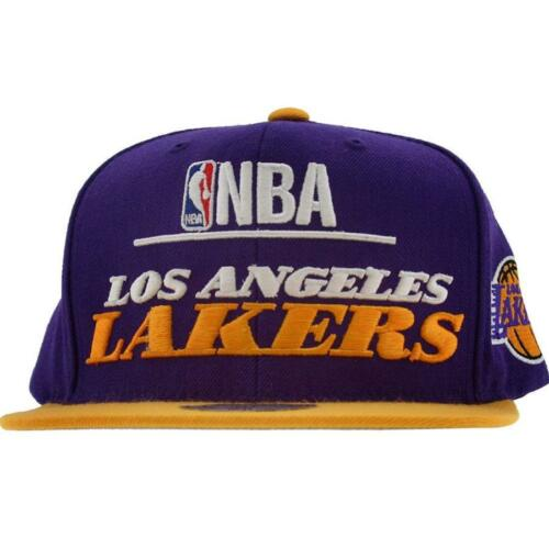 Mitchell And Ness Los Angeles Lakers NBA Media Day Wool Snapback Cap purple // y