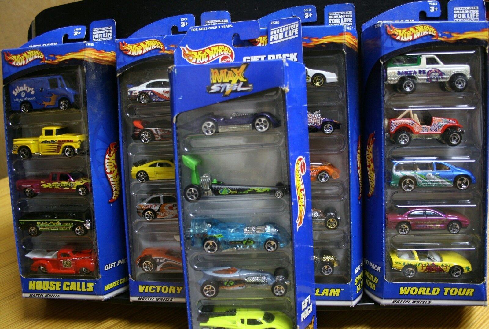 ahorra hasta un 80% 5 nuevos paquetes paquetes paquetes de regalo Hot Wheels 25 coches casa llamadas Victoria Lane Araña Max Tour  calidad fantástica