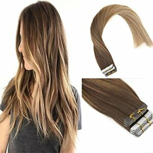 Sunny-20pcs-Tape-in-Human-Hair-Extensions-Remy-Balayage-Brown-mix-Blonde-4-6-22