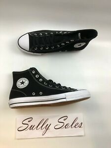 Converse-Chuck-Taylor-All-Star-Pro-Black-White-Suede-High-Top-Shoes-Multi-Size