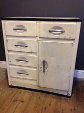 Cucina in metallo vintage con unità di base armadio cassetti armadio Storage