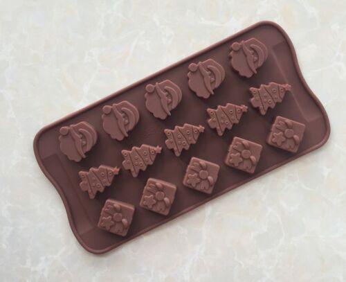 15 Christmas Santa Tree Silicone Mould Baking Chocolate Ice Cube Soap Festival