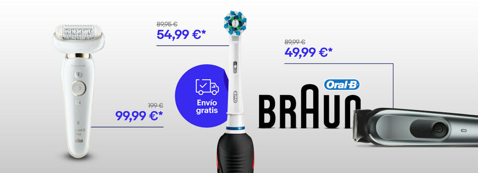 Ver todo - ¡Hasta el -50% en Braun y Oral B!