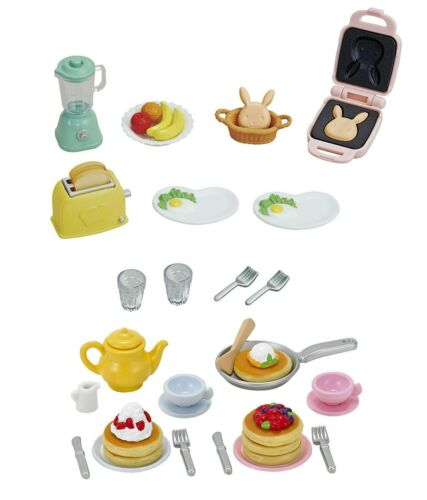 Food Theme Two Sylvanian Families Sets Breakfast and Pancake Sets