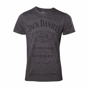 Official-JACK-DANIELS-Classic-Grey-Grindle-Logo-T-SHIRT-Old-No-7-Brand