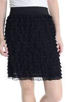 NWT! Sz S Kimchi Blue Urban Outfitters Black Ruffle Mini Skirt W/ Elastic Waist