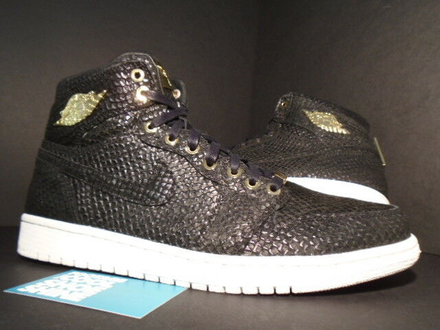 NIKE AIR JORDAN I RETRO 1 PINNACLE 24K BLACK gold SUMMIT WHITE OG 705075-030 10