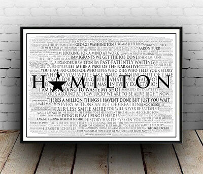Poster All Sizes Lyrics Hamilton Broadway Musical Poster Quotes Wall Art