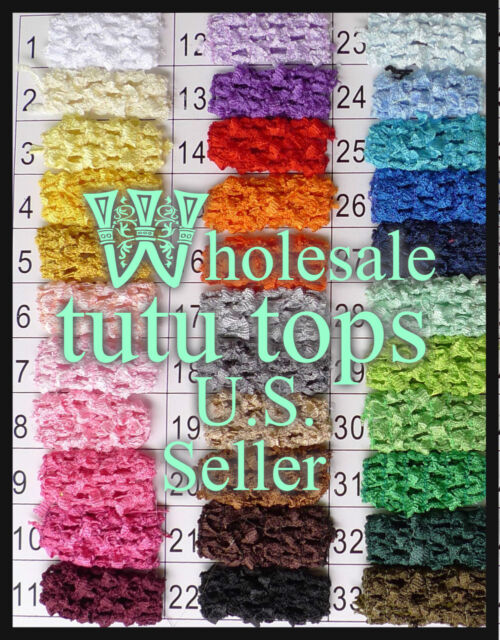 1'' 1.5'' 2.75'' 6'' 8'' 9'' 10'' 12'' CLEARANCE BULK Crochet Tube Top tutu
