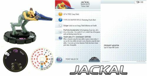 #008 #8 Halo HeroClix JACKAL BEAM RIFLE