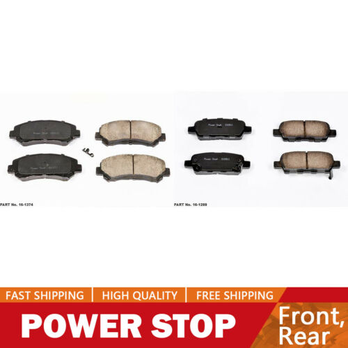 Power Stop Front /& Rear Ceramic Brake Pads For 2014-2016 Juke