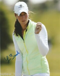 LPGA-Laetitia-Beck-Autographed-Signed-8x10-Photo-COA-D