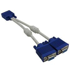 VGA SVGA MONITOR Y SPLITTER EXTENSION CABLE LEAD - PC M TO DUAL 2 x F VGA - 25CM