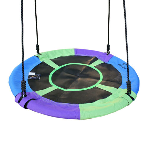"""Giant Mix-Color 40/"""" Disc Swing Seat Saucer Tree Swing Nest Playground Toy Set"""