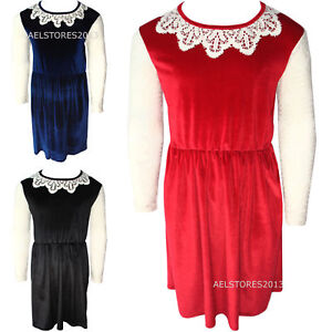 097d400b8709 New Girls Velour Dress Net Party Lace Age Size 2 3 4 5 6 7 8 9 10 11 ...