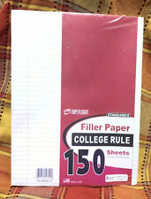 Top Flight Filler Paper 105 X 8 Inches College Rule 150 Sheets