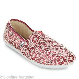 cc63738acdd TOMS Classic Crochet Glitter Slip On-Youth - Pink Size 5 (Youth)