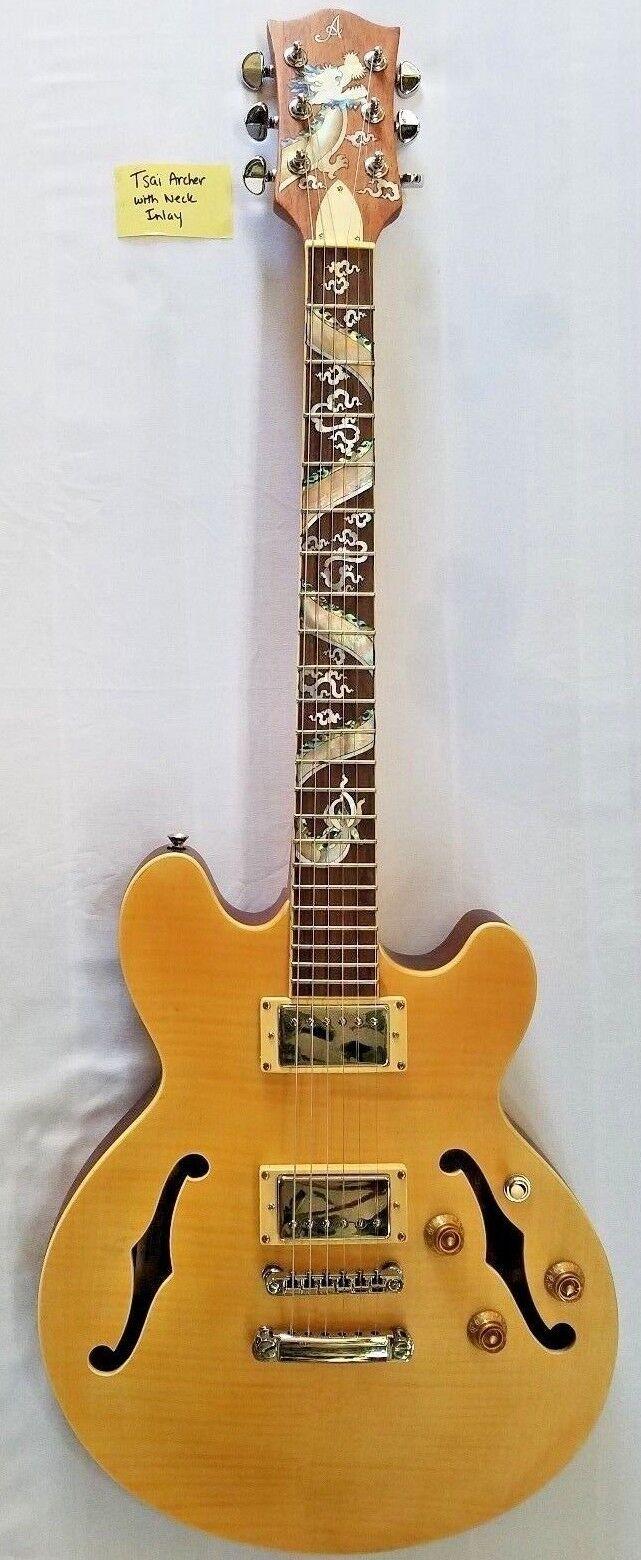 NEU Guitar Tsai Archtop, Body-Binding, Mutter der Perle
