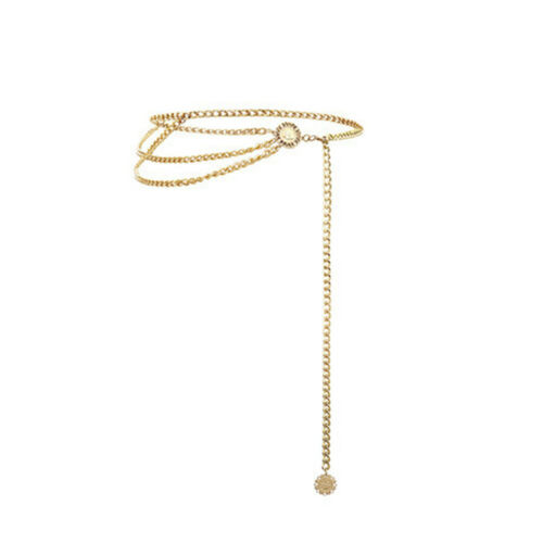 Details about  /CW/_ HD/_ Retro Women Multilayer Pendant Belly Waist Chain Adjustable Waistband Je