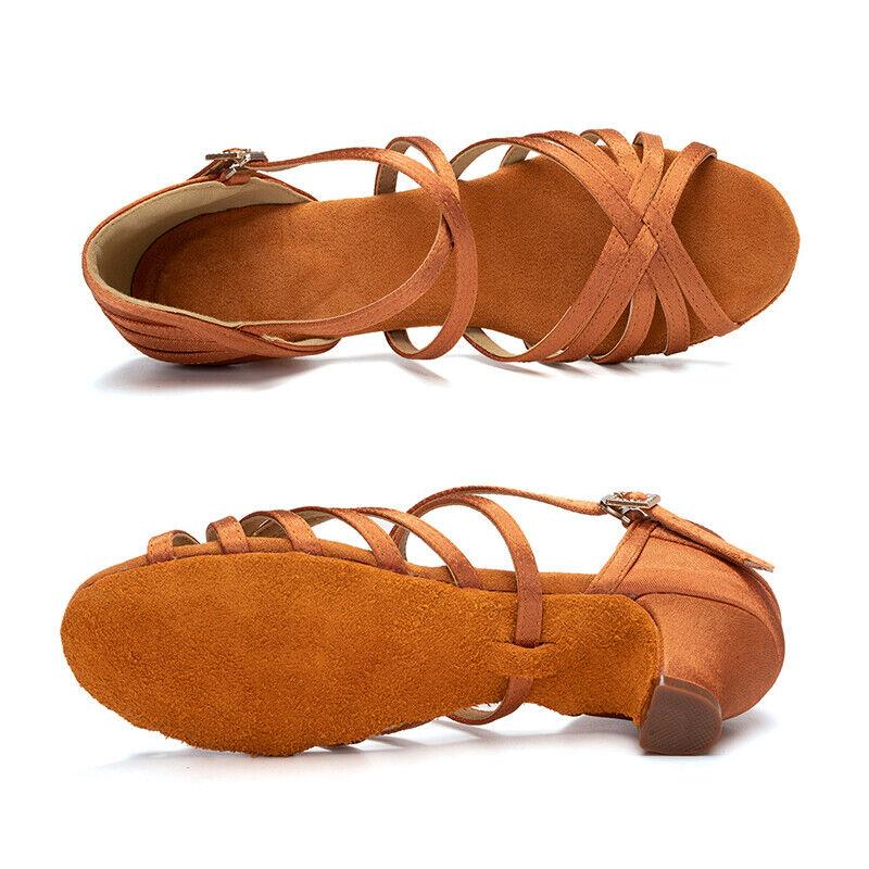 Children Latin Dance Shoes Ballroom Salsa Tango Shoes for Girls Kids Low Heels