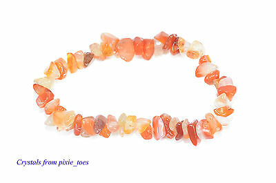 Double Strung Semi Precious Gemstone Chip Bead Stretch Bracelet Healing Crystals