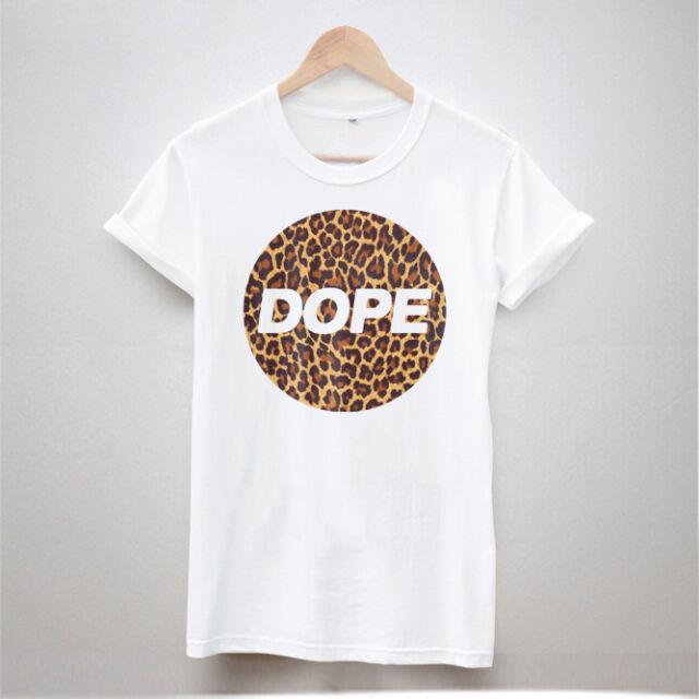 DOPE LEOPARD PRINT T SHIRT TUMBLR HIPSTER WOMEN FRESH SWAG TOP MEN WOMEN