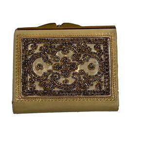 vintage-Beaded-Leather-wallet-coin-purse-Daniel-de-paris-Kisslock