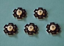 5 x 3W 740nm IR POWER  LED on HEATSINK Kühlkörper Emitter Infrarot Infrared 5mm