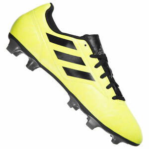 separation shoes 210eb 2aa46 Image is loading Football-boots-adidas-conquered-II-FG-Neon-Yellow-