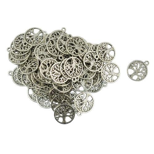 100Pcs Albero della Vita Ciondoli charmsjewelry scoperte Gioielli Making Accessorio