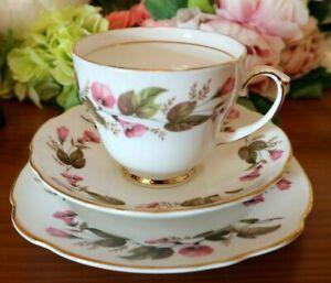 Duchess-Bone-China-PInk-Floral-Tea-Set-Trio