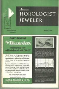 American Horologist Jeweler Magazine August 1959 Historic Tower Clock Watch