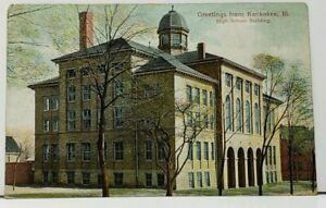 Kankakee-Illinois-High-School-Building-1908-to-Hatlem-Illinois-Postcard-I6