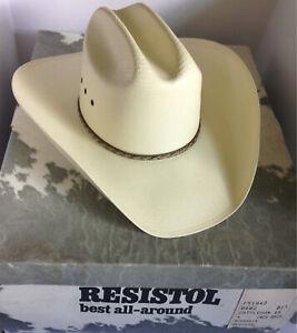 37fc59f2f7306 Resistol Cowboy Hat Sz-7 Long Oval George Straight 8X Genuine ...