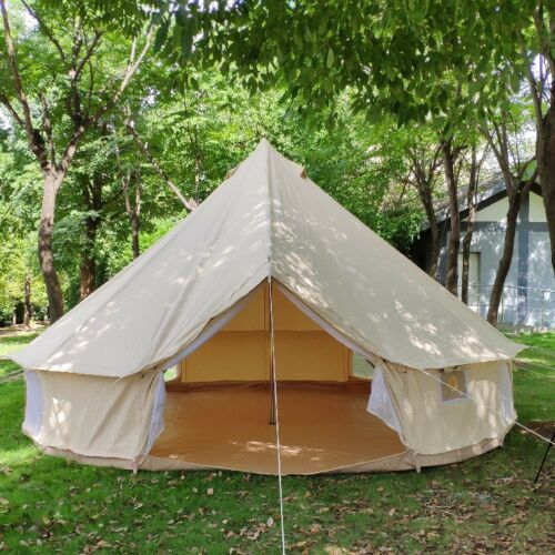 3//4//5//6m Waterproof Cotton Canvas Bell Tent with Stove Jacket Tent Sun Shelter