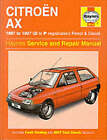 Citroen AX (1987-97) Service and Repair Manual by A. K. Legg (Hardback, 1994)